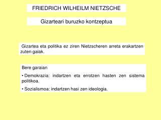 FRIEDRICH WILHEILM NIETZSCHE