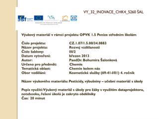 V Y_32_INOVACE_CHK4_5 2 60 ŠAL