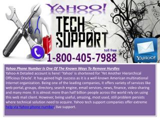 Contact Yahoo Customer Service Number - 1-800-405-7988 | Yah