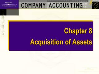 Chapter 8   Acquisition of Assets