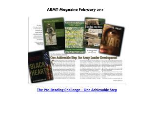 ARMY Magazine February 2011