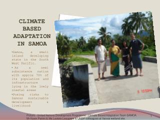 CLIMATE BASED ADAPTATION IN SAMOA