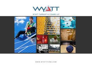 Christopher  Melton  & Jennifer Wintergerst Wyatt, Tarrant, & Combs, LLP