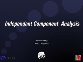 Independant Component  Analysis