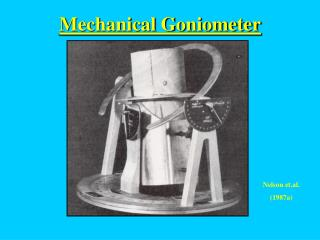 Mechanical Goniometer