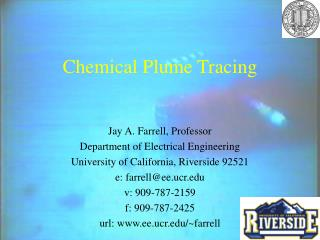 Chemical Plume Tracing