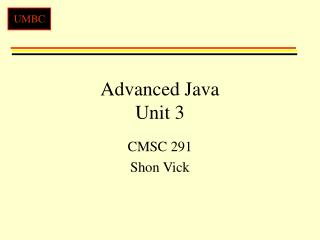 Advanced Java Unit 3