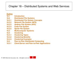 Chapter 18 � Distributed Systems and Web Services