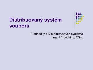 Distribuovaný systém souborů