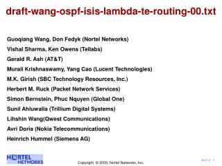 draft-wang-ospf-isis-lambda-te-routing-00.txt