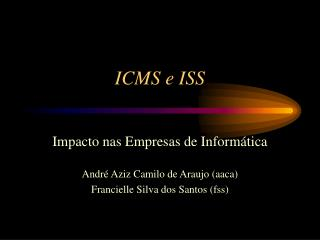 ICMS e ISS