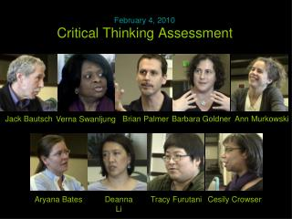 Critical Thinking Assessment
