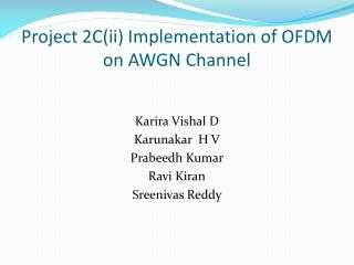 Project 2C(ii) Implementation of OFDM on AWGN Channel