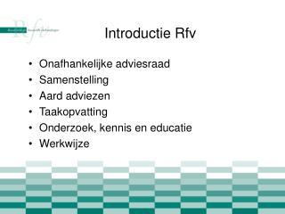 Introductie Rfv