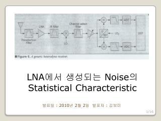 LNA 에서 생성되는  Noise 의  Statistical Characteristic