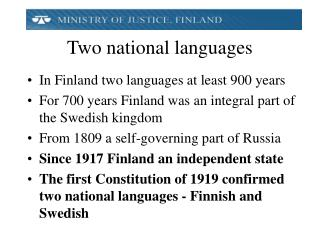 Two national languages