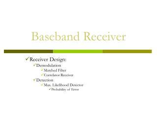 Baseband Receiver