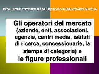 EVOLUZIONE E STRUTTURA DEL MERCATO PUBBLICITARIO IN ITALIA
