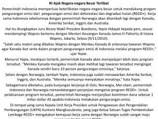 RI Ajak Negara-negara Besar Terlibat