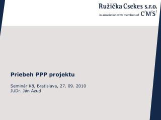 Priebeh PPP projektu