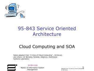 95-843 Service Oriented Architecture