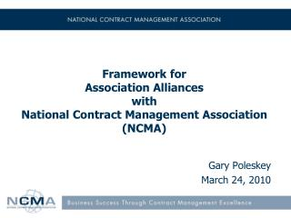 Framework for  Association Alliances  with National Contract Management Association (NCMA)