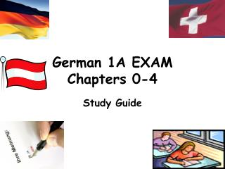 German 1A EXAM Chapters 0-4
