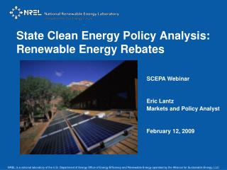 State Clean Energy Policy Analysis: Renewable Energy Rebates