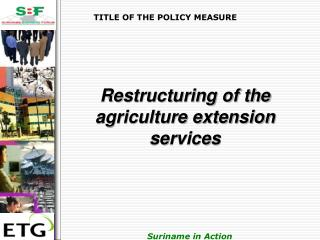 TITLE OF THE POLICY MEASURE