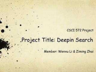 Project Title:  D eepin  Search