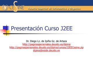 Presentación Curso J2EE