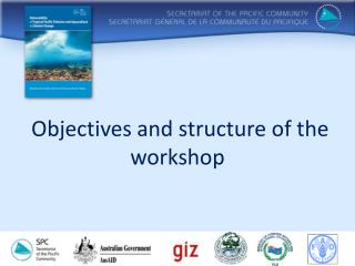 Objectives and structure of the workshop