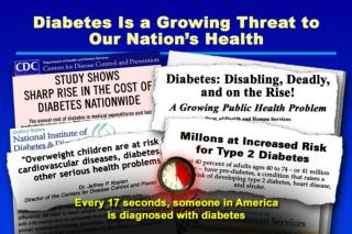 Diabetes Is a Growing Threat to Our Nation ' s Health