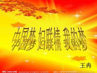 中国梦 妇联情 我的梦