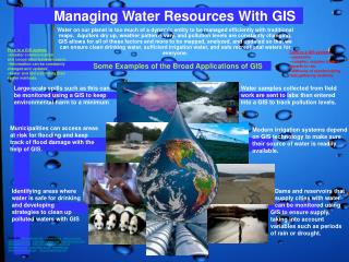 Managing Water Resources With GIS