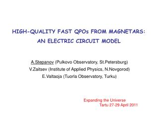 HIGH-QUALITY FAST QPOs FROM MAGNETARS:  AN ELECTRIC CIRCUIT MODEL