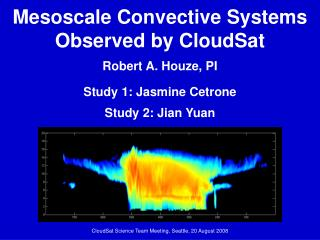 Mesoscale Convective Systems Observed by CloudSat