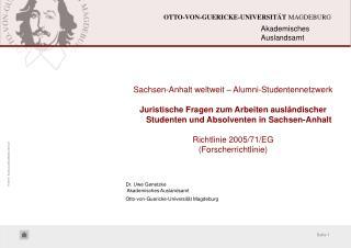 Sachsen-Anhalt weltweit – Alumni-Studentennetzwerk