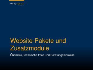Website-Pakete und Zusatzmodule