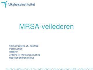 MRSA-veilederen