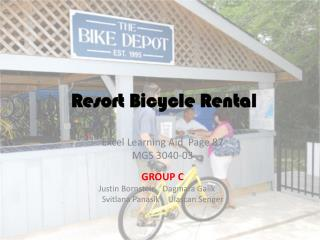Resort Bicycle Rental