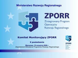 Komitet Monitorujący ZPORR