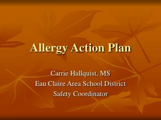 Allergy Action Plan