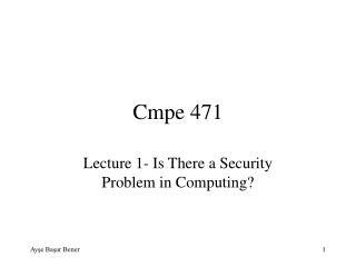 Cmpe 471