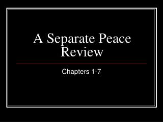 A Separate Peace Review