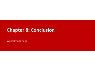 Chapter 8: Conclusion
