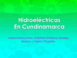Hidroeléctricas En Cundinamarca