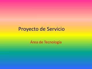 Proyecto de Servicio