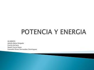 POTENCIA Y ENERGIA