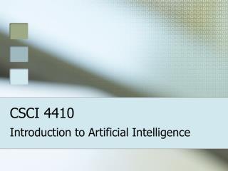 CSCI 4410